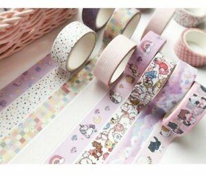 Kawaii Cartoon Washi Tape - Adhesive Decorative Scrapbook Masking Tape