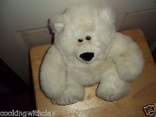 RARE VINTAGE AMERICAN WEGO PLUSH DOLL FIGURE GRIZZLY WHITE BEAR STUFFED TOY