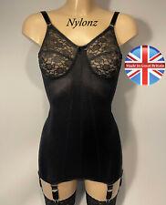 Classic Panty Corselette / Full Girdle / Body Briefer 6 Strap BLACK - NYLONZ UK