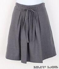 GAP Pleated A-Line Schoolgirl Skirt Gray Wool Blend Lightweight All Season 8