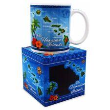 Welcome to The Islands 10 Oz. Island Treasures Mug Hawaiian Map - Blue