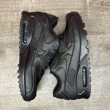 NEW Nike Air Max 90 Leather Triple Black 302519-001 Running Shoes Men's Size 11