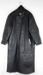 Vintage NEW YORK STYLE Super Triple Goose XXL Men's Leather Jacket Trench Coat