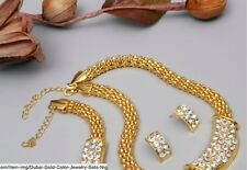 Ghana Wedding African Beads Dubai Gold Color Jewelry Sets