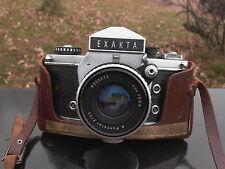 Exakta VX1000 Ver 1 1967 w/ Zeiss Pancolar Zebra 50/2 lens & case