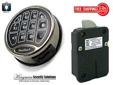 SecuRam Safelogic BackLit Lock & Keypad Kit - Swingbolt - Black Chrome Finish