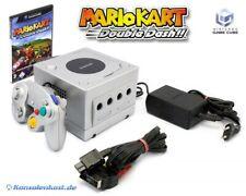 Nintendo GameCube - console #silver + Mario Kart + gamepad + equipment