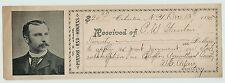 RARE Advertising Receipt Dealer - Adair Pianos & Organs 1895 Cohocton NY -