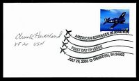 Charles Haverland WWII Fighter Pilot Ace-6.5V Signed First Day Cover FDC E12926