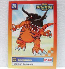 DIGIMON TRADING CARDS - GREYMON 19/34 - CARTE UFFICIALI SERIE TV-1a SERIE
