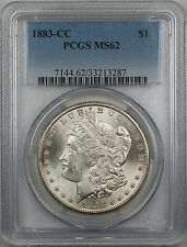1883-CC Morgan Silver Dollar $1 Coin PCGS MS 62 (Better Coin 12-C)