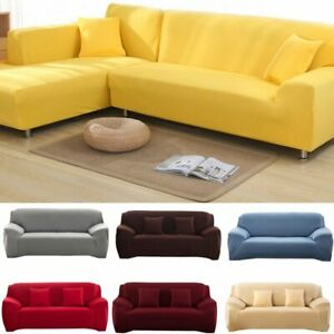 22 Solid Color Spandex Modern Stretchable Elastic L shape sofa cover HOME DECO
