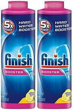 2 PACK Finish Hard Water DishwashervNMqOS Powder Booster, 5X Power, Lemon