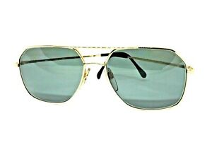 Sunglasses View Vintage Luxottica Ages 80 Made IN Italy Metal Gold Green