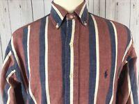 Vintage Ralph Lauren Mens Button Down Dress Shirt Oxford LS Size S