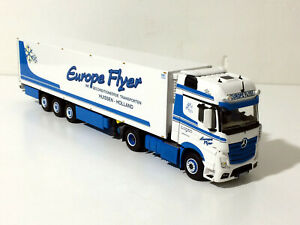 "Mercedes Actros MP4 Giga space reefer trailer ""Europe Flyer"" WSI truck models"