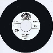 RUDY GREENE - JUICY FRUIT / WILDLIFE (Two Monster Screamin' BLACK ROCKERS) Repro
