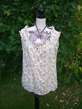 Size 12 Top JOHN ROCHA Cream Blouse DEBENHAMS Great Condition Women's