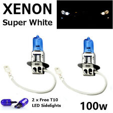 H3 100w SUPER WHITE XENON UPGRADE HID Headlight Bulbs FOG BEAM + T10 W5W SIDE