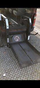Ricon wheelchair lift and Qstraint restraint