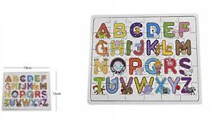 Gioco Bambini Lettere Alfabeto Legno Colorato Con Animali Didattico Bimbi dfh