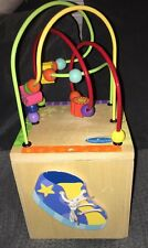 "Imaginarium Small Wooden Activity Center Cube - Busy Street - VGC 7"" X 15"" X 8"""