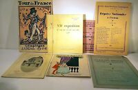 8 Programmes 1930 Theatre & Various Compiegne Movie Finch Rowing Bretons Expo