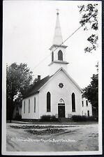 BURR OAK Michigan ~1940's ST. JOHN'S LUTHERAN CHURCH ~ Real Photo PC   RPPC