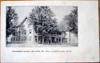 1910 Postcard: Crissman House - Milford, Pennsylvania PA