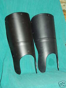 Medieval Greaves Protect Shins in SCA WMA & LARP Sword Combat - Dark Victory