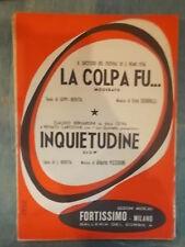 """SPARTITO """"LA COLPA FU..."""" BERNARDINI """"INQUIETUDINE"""""""