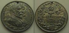 1902 - Coronation of Edward VII & Queen Alexandra, commemorative Lead Medal