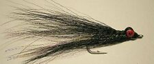 Clouser's Deep Minnow Black 1/0 Saltwater Flies