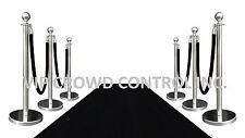 VIP BLACK CARPET COMBO SPECIAL (6-MIR POSTS + 4-ROPES + 1-3'X10' BLACK CARPET)