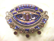 Vintage ADAYA Glass Crystal and Bead PIN BROOCH Gorgeous!