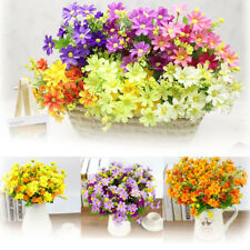 1 Bouquet 28 Heads Artificial Flower Fake Bridal Party Home Wedding Table Decor