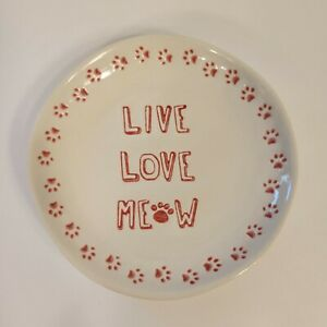 New Whisker City Live Love Meow Saucer Plate