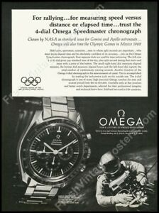 1960s Omega Speedmaster moon watch photo classic ad new poster 18x24