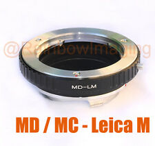 Minolta MD Lens to Leica M Mount Camera Adapter M6 M8 M7 M9 Ricoh GXR A12