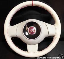 Coprivolante AVORIO specifico per Fiat 500 POP/LOUNGE volante in POLIURETANO