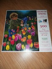 Signs of Spring 500 piece puzzle - Art by Tricia Reilly-Mattews  COMPLETE