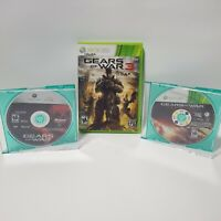 Xbox 360 Gears of War 3 Game Lot 1, Judgment, 3 Discs Only! Free Shipping!
