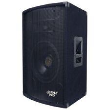PYLE Pro 250W RMS/500W Peak Subwoofer Tweeter Heavy Duty 2-Way PA Speaker System