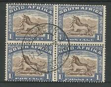 4 Number British Colonies & Territories Stamp Blocks