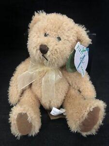 "First & Main ""Scruffy"" Teddy Bear Plush Stuffed Animal Soft Brown Tan TAGS"