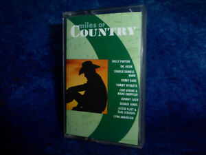 Miles Of Country Music Compilation RARE AUDIO CASSETTE TAPE 1994 Sony FreeUK P&P