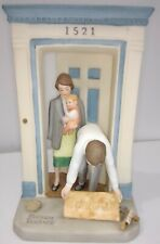 """Rare Limited Ed. Gorham Norman Rockwell 1986 """"Welcome Mat"""" Porcelain Figurine"""