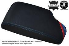 M STRIPES BLUE STITCH LEATHER ARMREST COVER FITS BMW 5 SERIES E60 E61 04-11