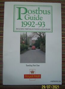 Royal Mail - Postbus Guide and Timetable 1992-93