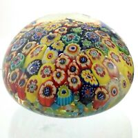 Vintage Millefiori Murano Style Pattern Paperweight Hand Blown Glass M762
